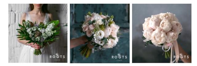 Классический букет невесты — WedFlora | 215x640
